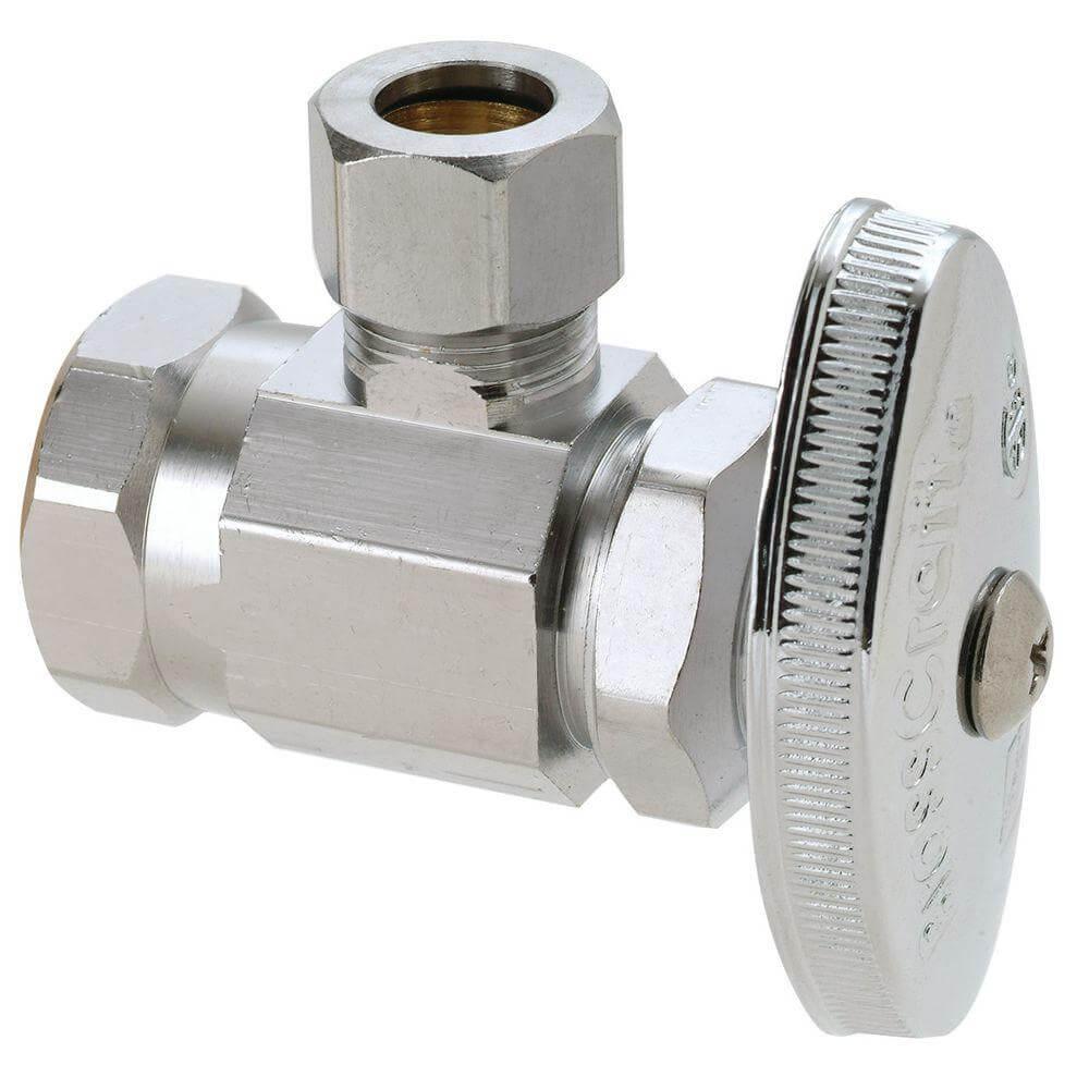 Brasscraft multi turn angle valve installation