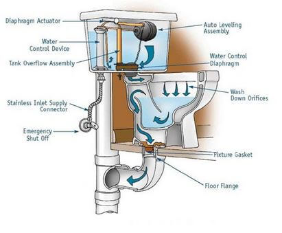 Toilet plumbing system