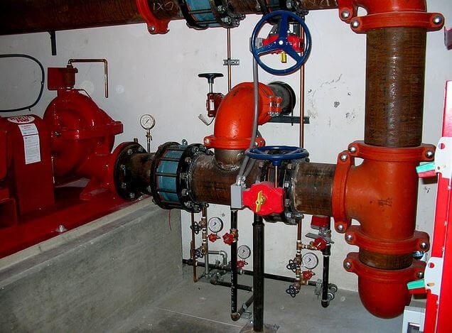 Angle valves in piping system