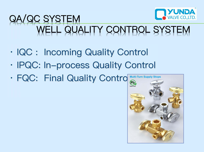 Mini Ball valve QA/QC system
