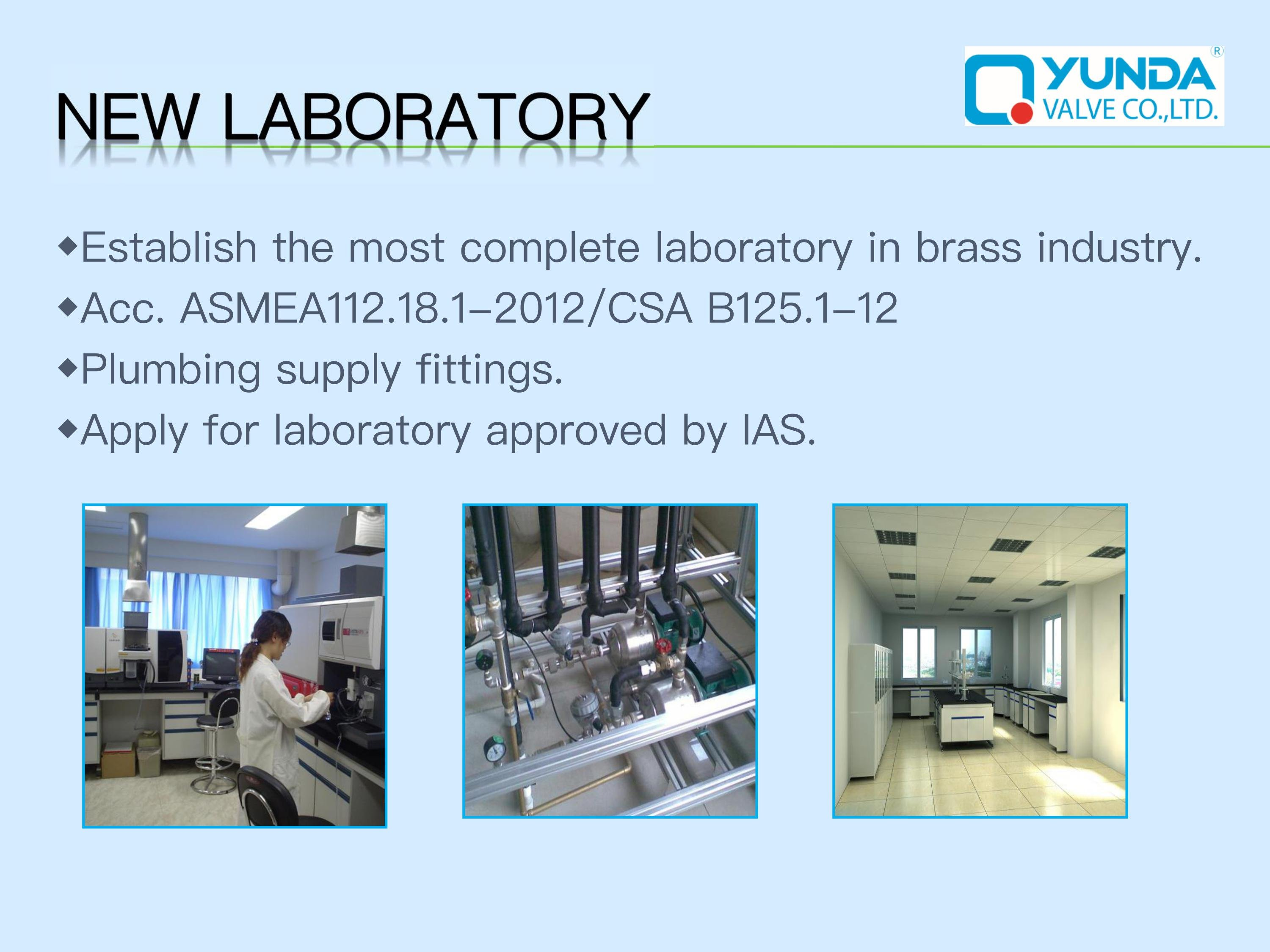 Compressioin Angle valve our new laboratory