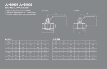 Brass Ball Valve Drawing andBall Valve Dimensions