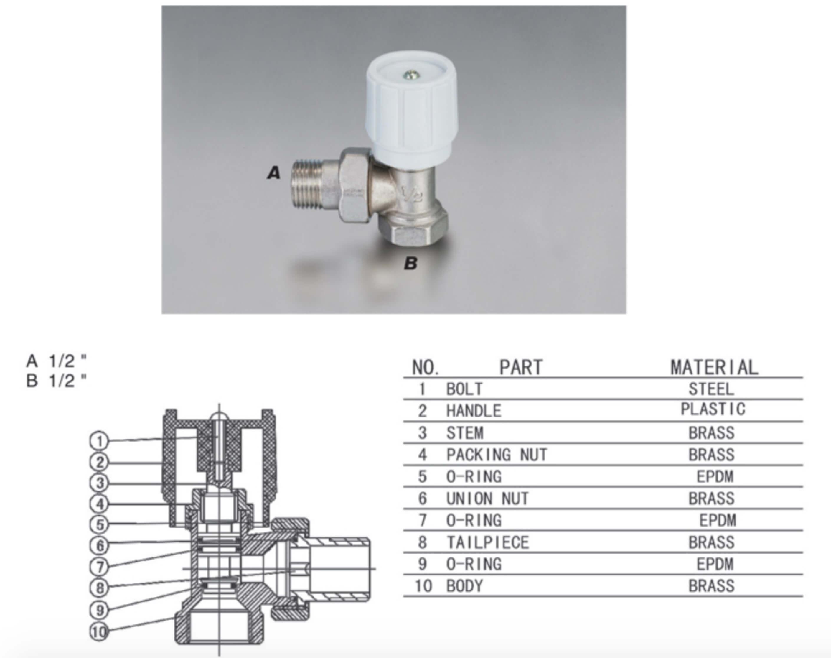 towel rail valve