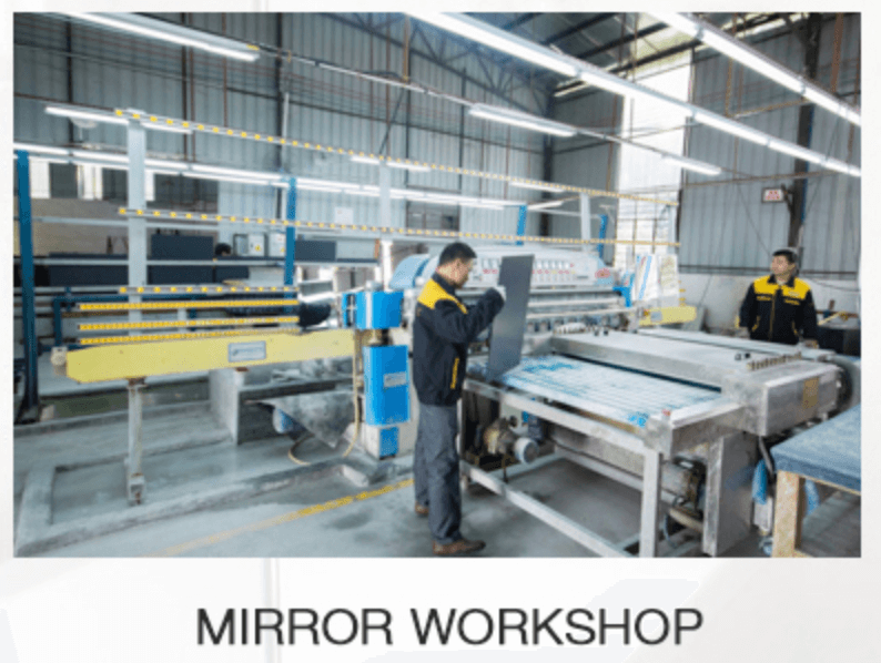 Wall Mirror Manufacturer workshop