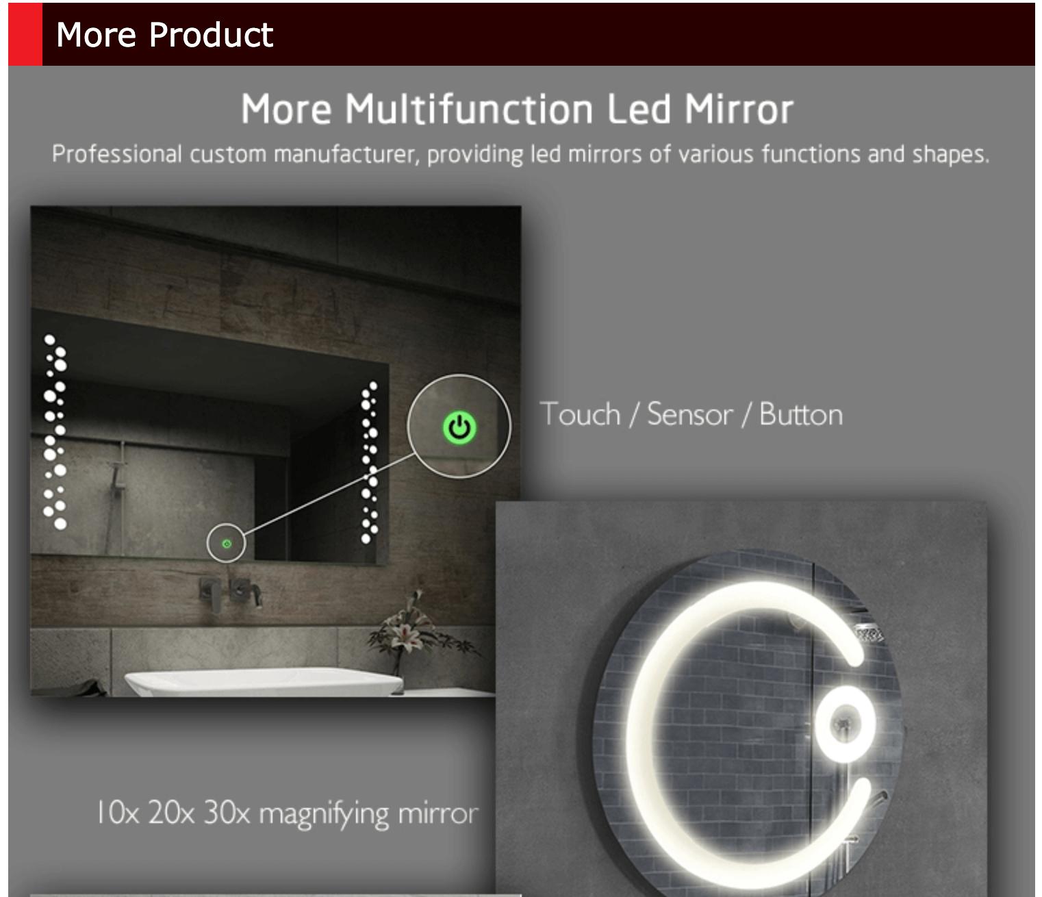 large illuminated bathroom mirror