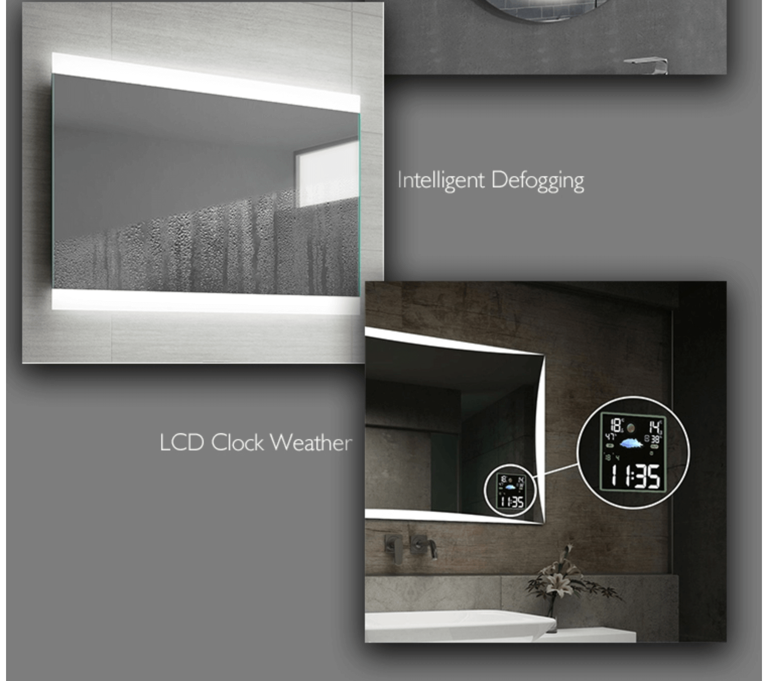 Heated Bathroom Mirrors PRODUCTS DETAILS