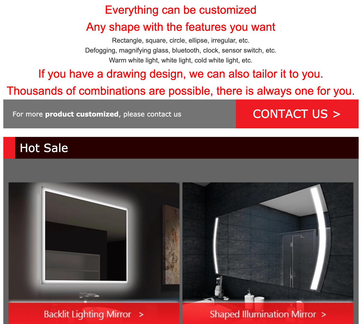 Custom Mirror Manufacturers products details