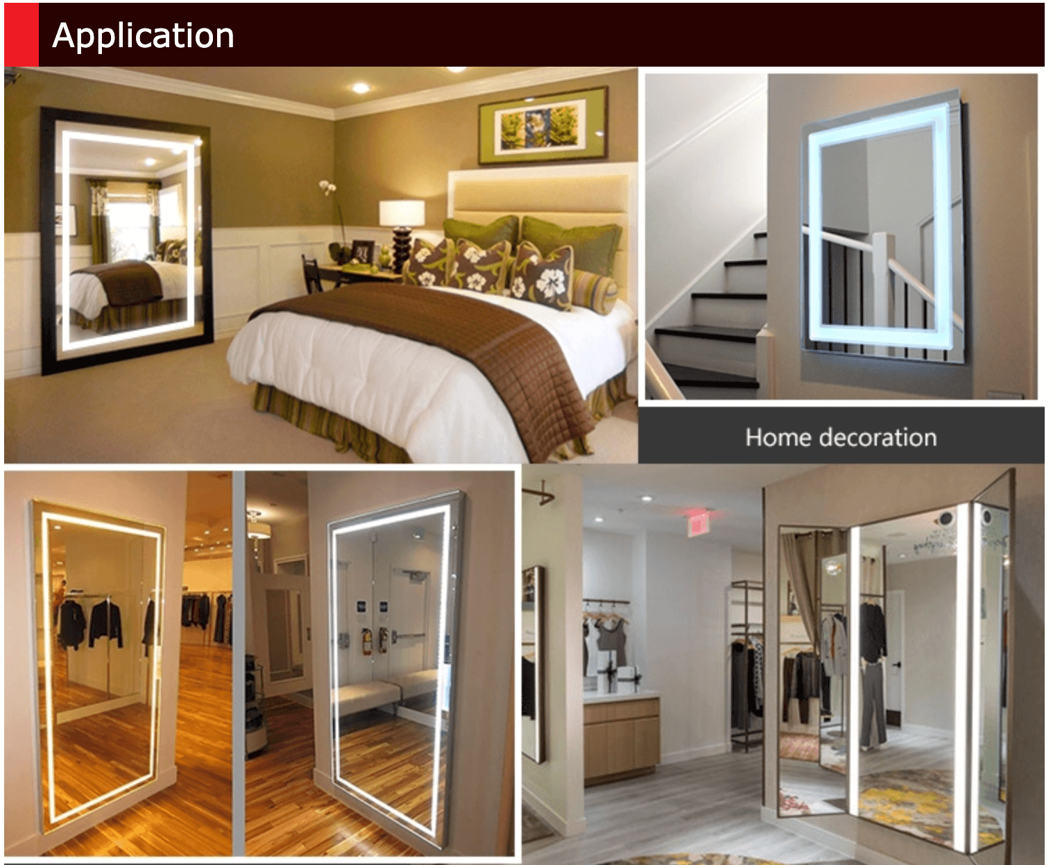 Wall Mirror Manufacturer applications