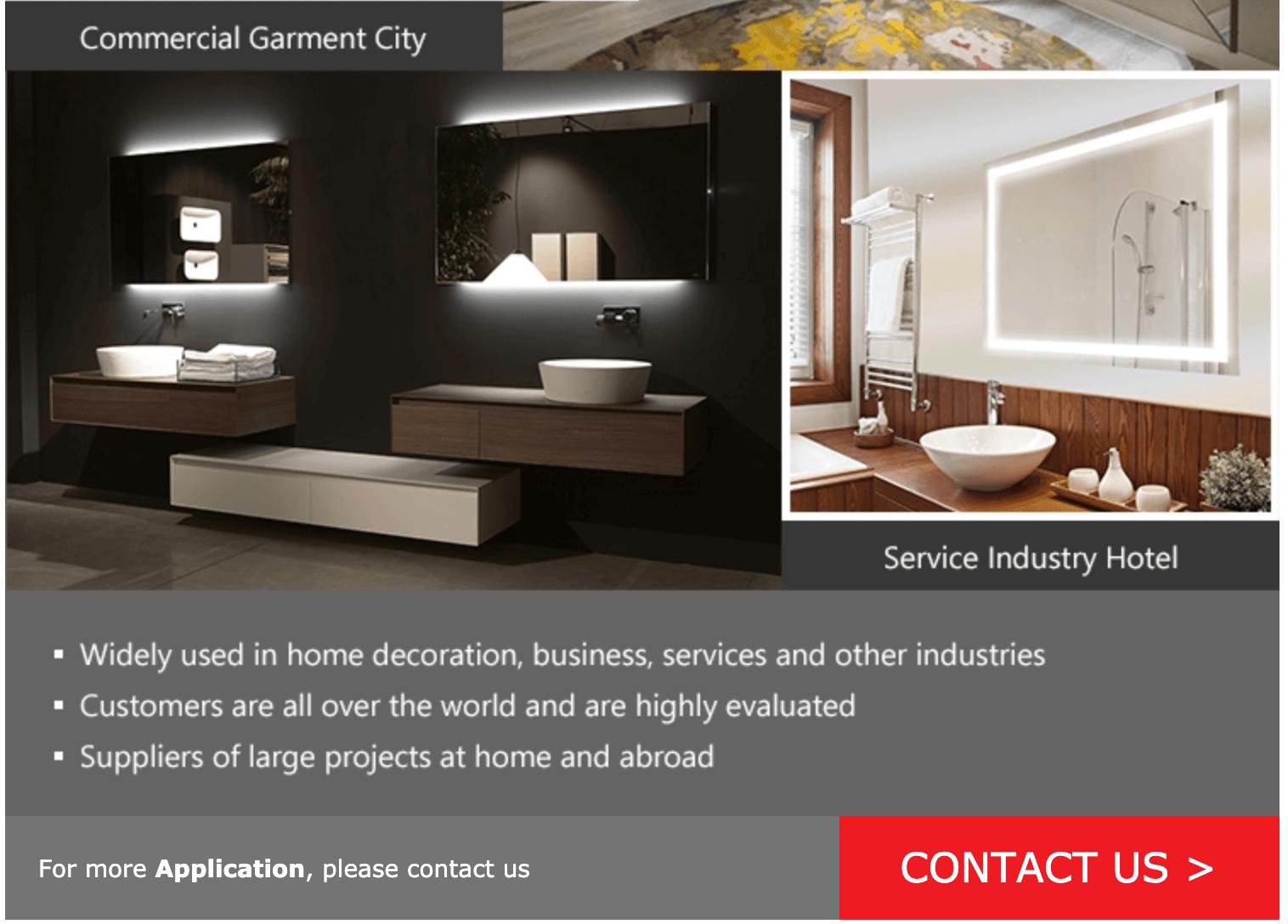 Custom Mirror Manufacturers shower room