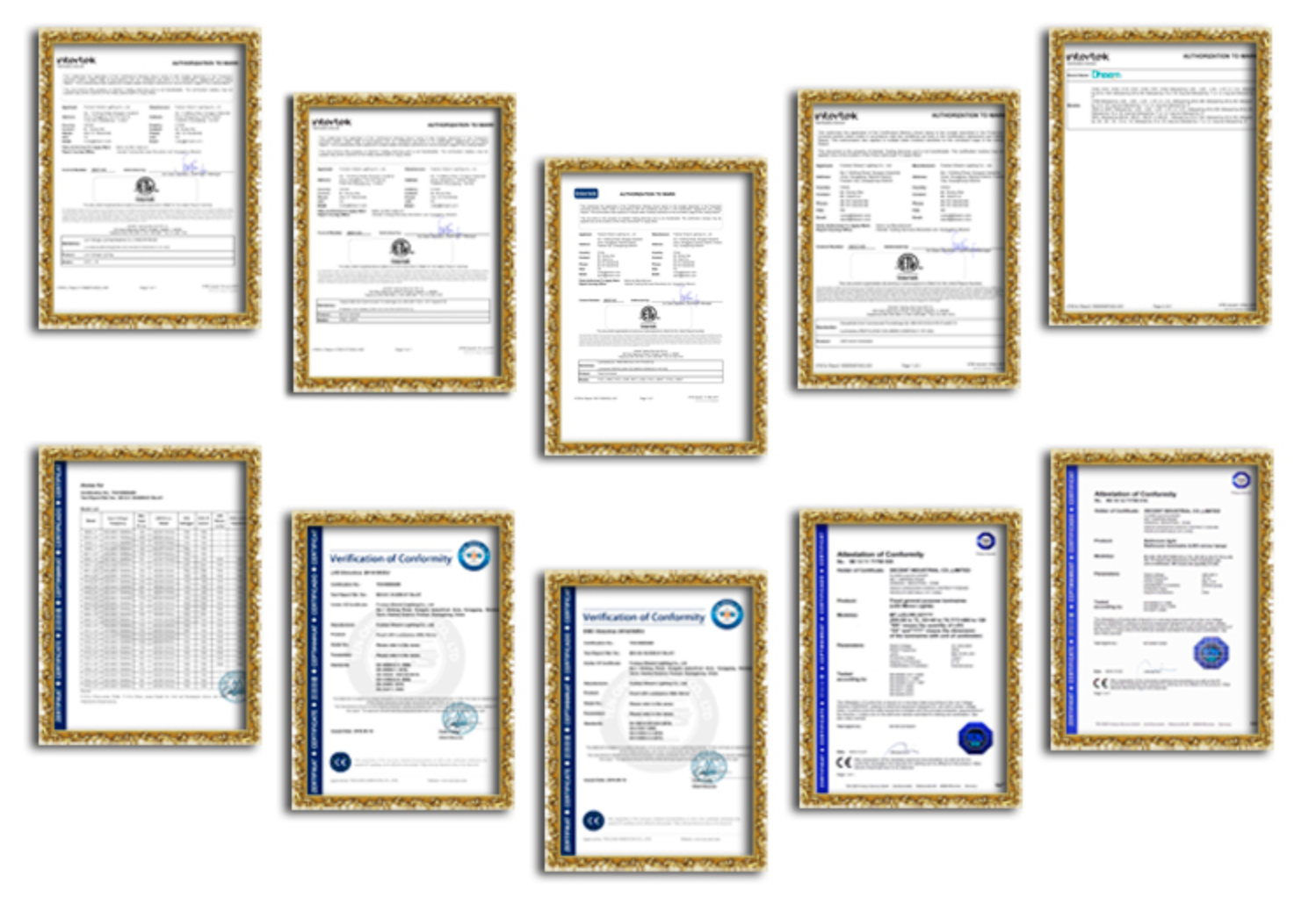 led bluetooth mirror certifications