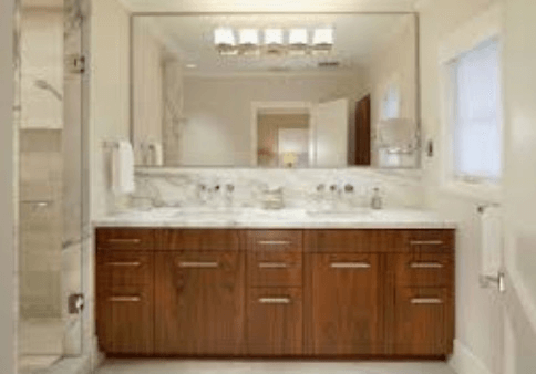 Large bath mirror