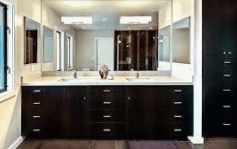 Built-in bath mirror