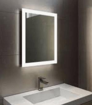 Heated bathroom mirrors