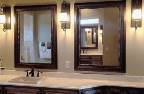 Applications of bathroom mirrors