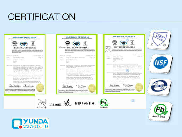 Brass Ball Valve Manufacturer certifications