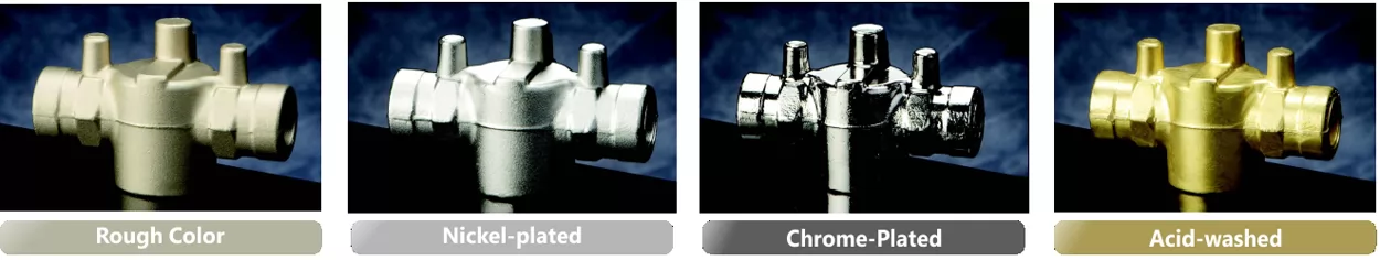 4, Available surface treatments of brass 2 in 1 angle valves: