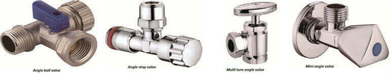angle valve manufacturers types