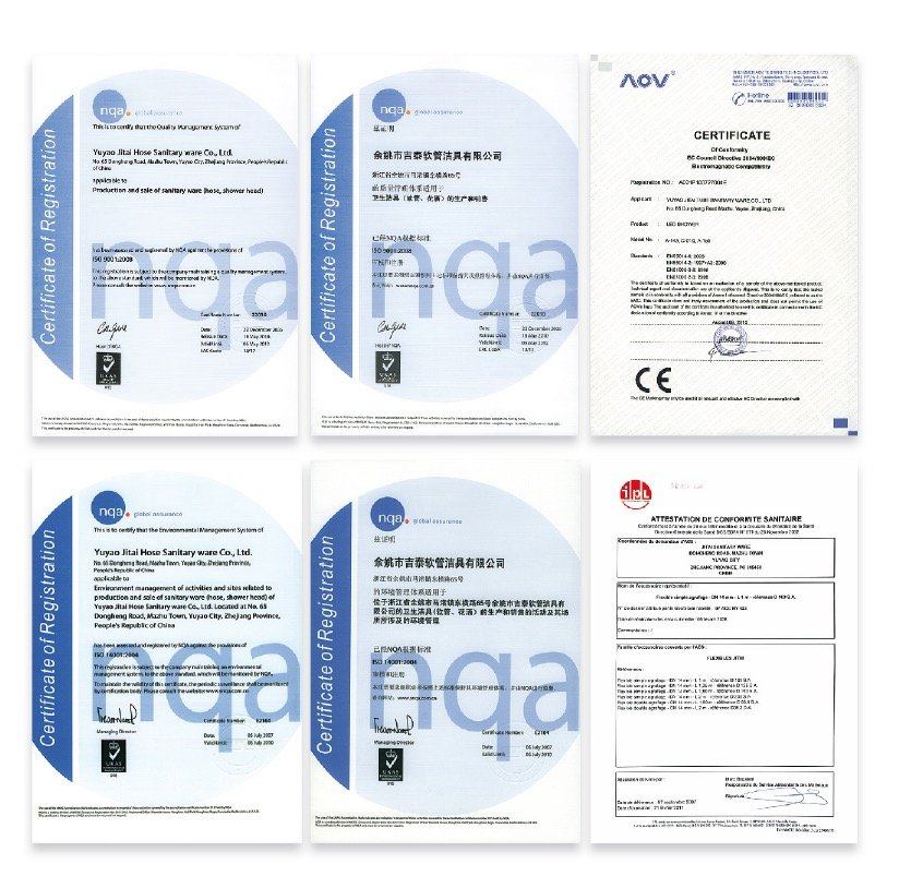 shower head manufacturers certifications
