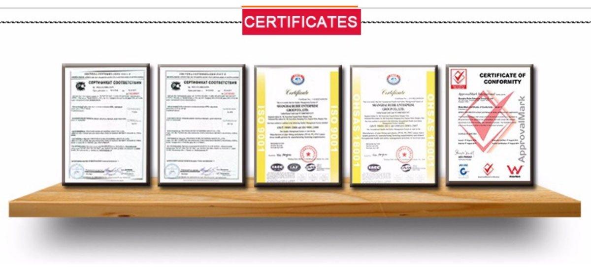 Pex tubing Certifications