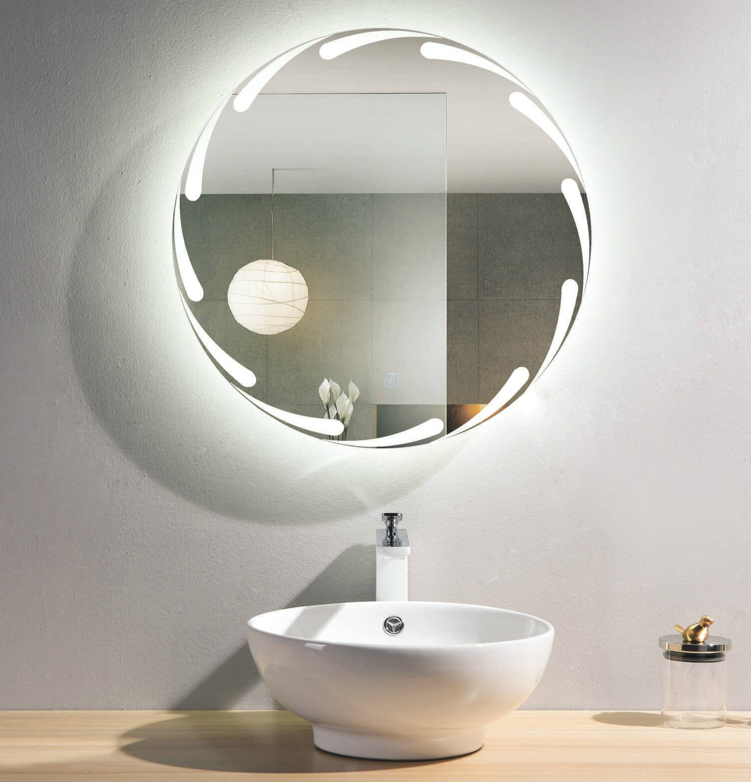 no fog bathroom mirror