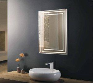 heated bathroom mirror cabinet